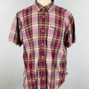 Patagonia Men's Shirt XXL Short Sleeve Plaid